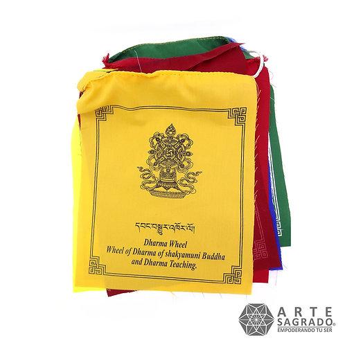 Banderas tibetanas de Oración 8 signos auspiciosos