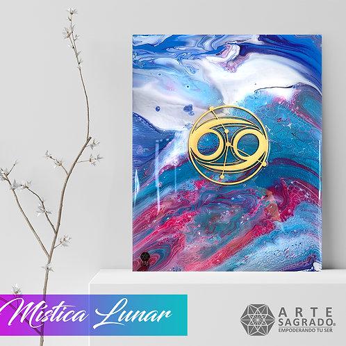 """Pintura Abstracta """"Mística Lunar"""""""