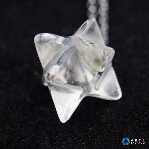Collar MER-KA-BAH 3D cuarzo transparente