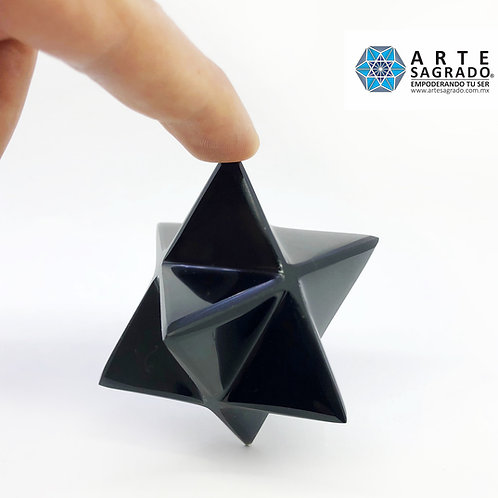 Estrella JUMBO MER-KA-BAH cuarzo obsidiana negra