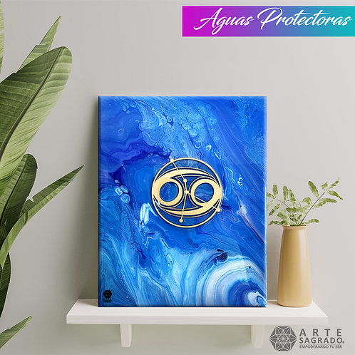 "Pintura Abstracta ""Aguas protectoras"""
