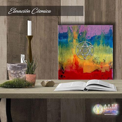 """Pintura Abstracta """"Elevación Cósmica"""""""