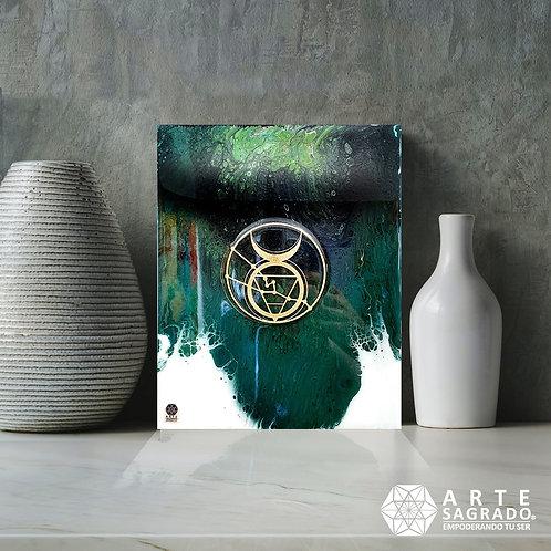 """Pintura Abstracta """"Expansión Terrenal"""""""