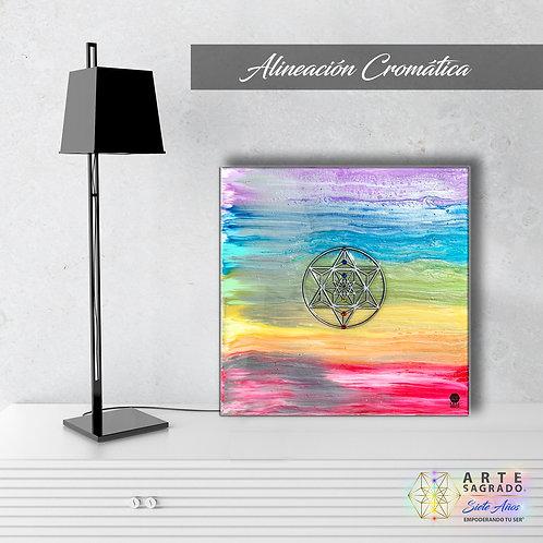 """Pintura Abstracta """"Alineación cromática"""""""