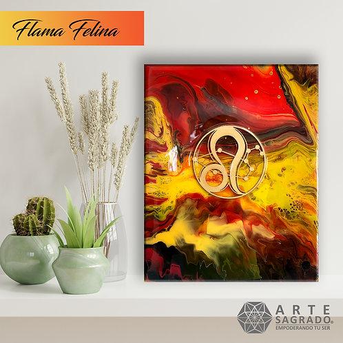 "Pintura Abstracta ""Flama felina"""