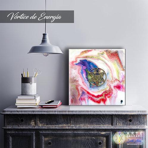"""Pintura Abstracta """"Vórtice de energía"""""""