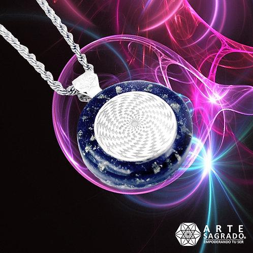 Mini collar orgón Sensor Cósmico Plata 925 Aventurina y pirita