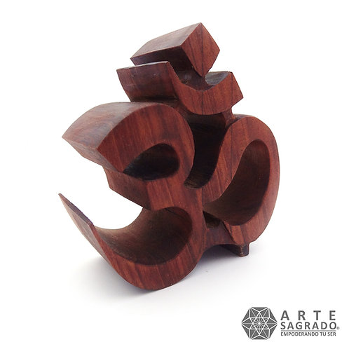 Símbolo Ohm en madera de Cedro