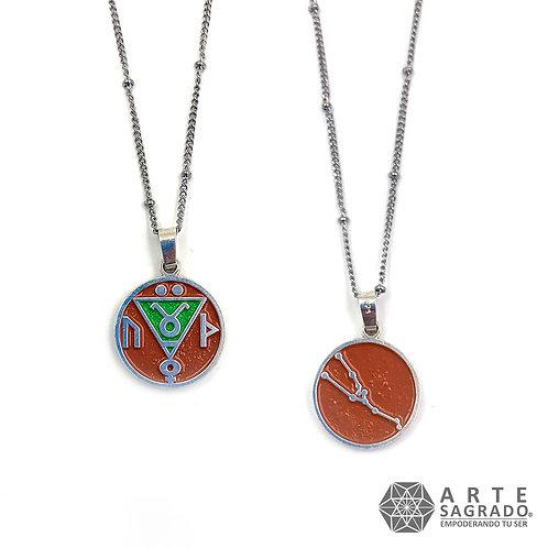 Medallita doble vista TAURO plata 0.925