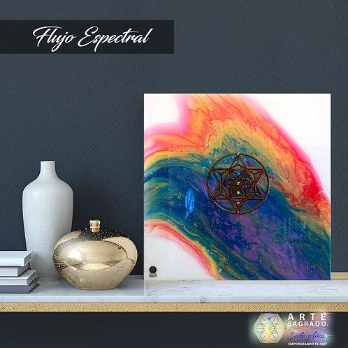 """Pintura Abstracta """"Flujo Espectral"""""""