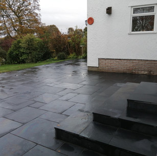 black kadapha limestone patio