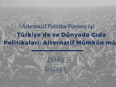 APF (4) Etkinlik Raporu: Türkiye ve dünyada gıda politikaları - Alternatif mümkün mü?