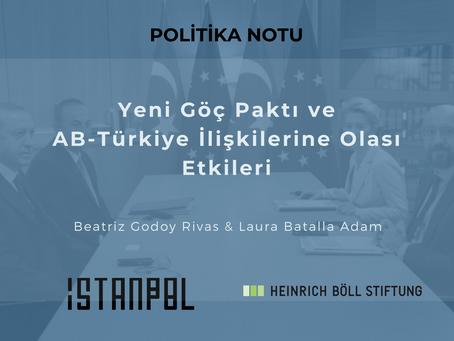 Yeni Göç Paktı ve AB-Türkiye İlişkilerine Olası Etkileri