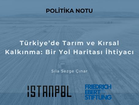 Türkiye'de Tarım ve Kırsal Kalkınma: Bir Yol Haritası İhtiyacı