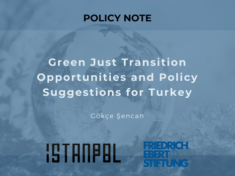 Green Just Transition Opportunities and Policy Suggestions for Turkey