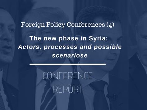 FPT (4) Konferans Raporu: Suriye'de Yeni Dönem - Aktörler, Süreçler ve Olası Senaryolar