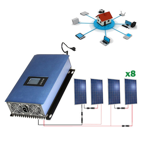 Solar kit 2000wh Self-consumption Injection to RED