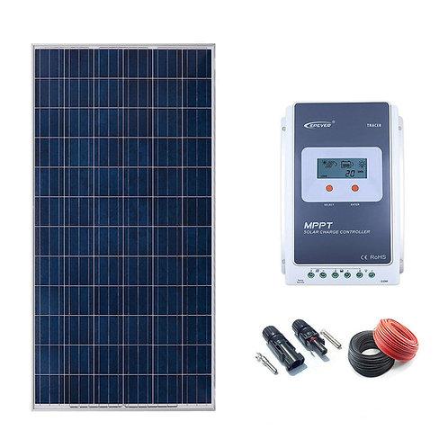 Kit Solar 12v 300w Regulador MPPT 20a con LCD