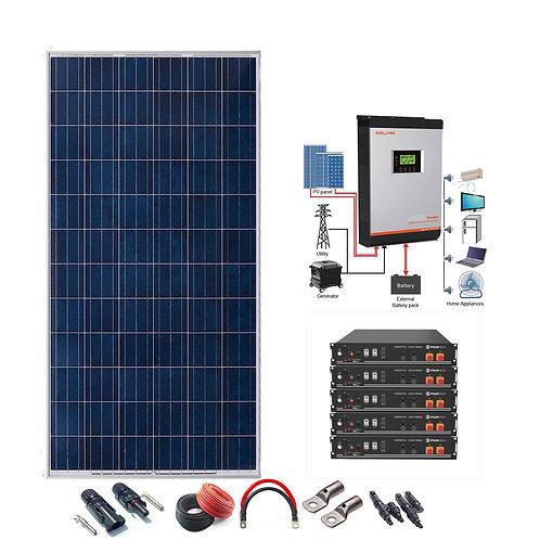 Kit Solar 48v 3300w Inversor Híbrido con batería de Litio