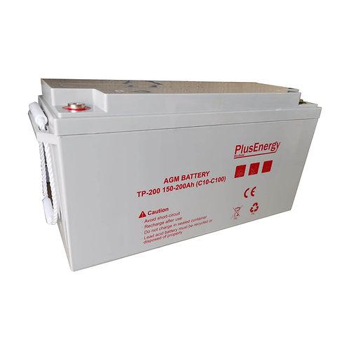 Batería solar AGM 200Ah / 12 v PlusEnergy TP12-200