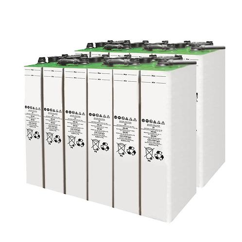 12 Baterías Turbo Energy 4 SOPzS 540-700Ah 2v