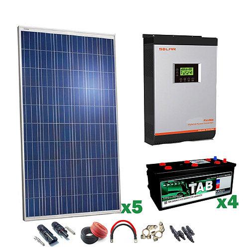 Kit Solar 24v 1250w Inversor Híbrido