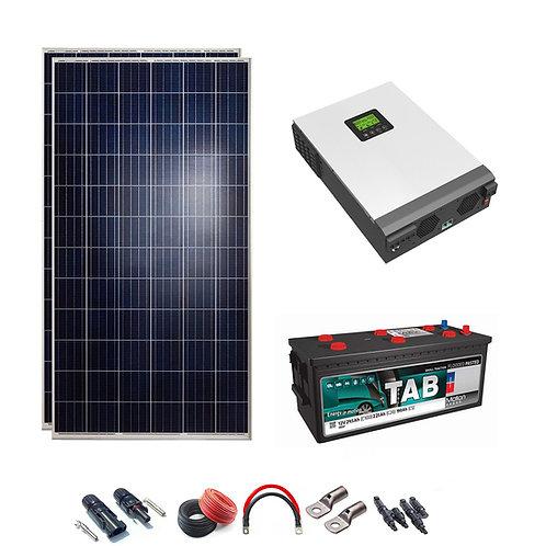Solar Kit 24V 600W Hybrid Wechselrichter