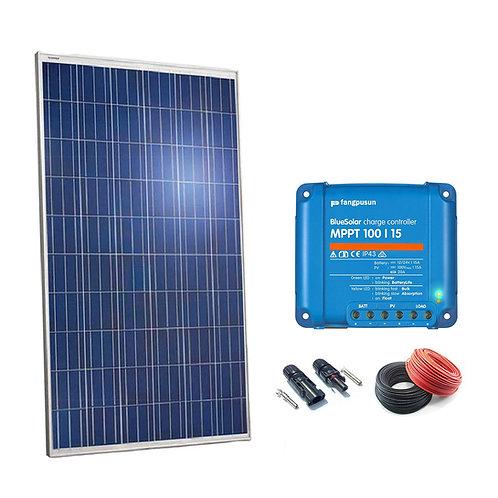 Kit Solar 250W Regulador MPPT 15a
