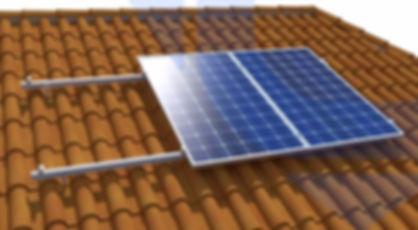Estructura para paneles solares modelo Tejado Perforante.