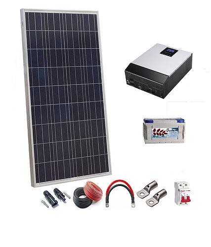 Kit Solar 12v 150w/300w con Inversor multifuncion 800w