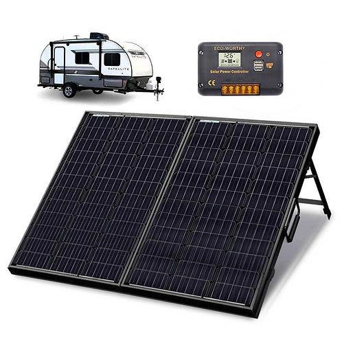 Folding Solar Panel 12V 120W Monocrystalline Suitcase With Black Frame