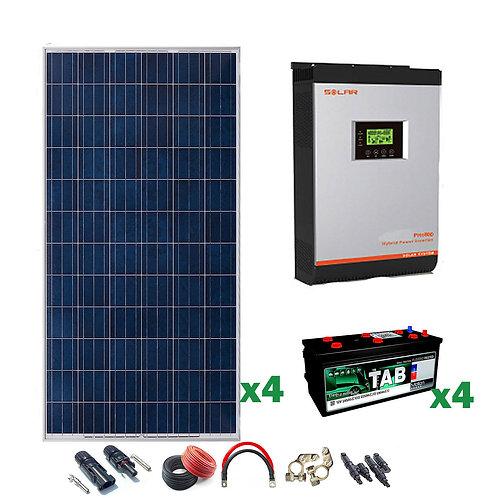 Kit Solar 24v 1200w Inversor Híbrido
