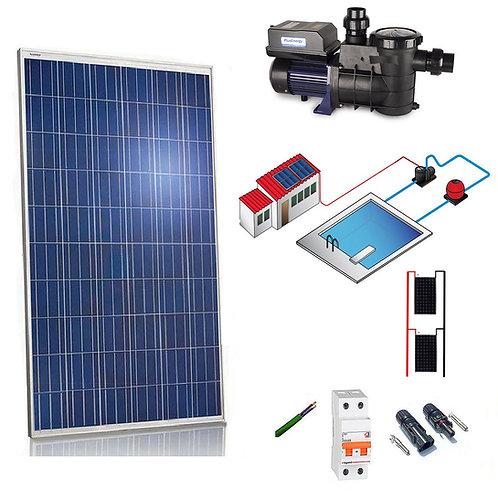 Kit solar 370W - estação de tratamento de piscina de 1/2 cv