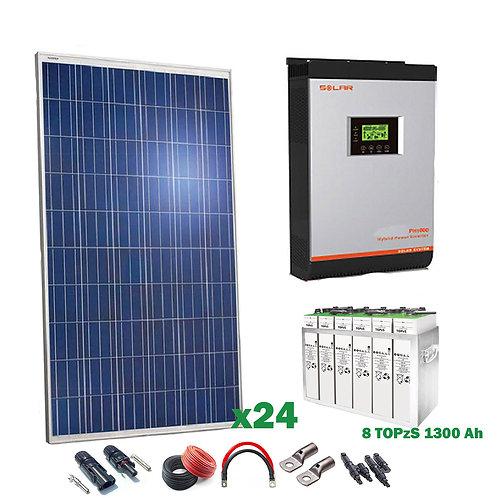 Kit Solar 48v 6000w Inversor Híbrido