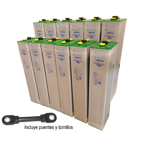 12 TAB 5 TOPzS 625-812Ah 2V Batterien