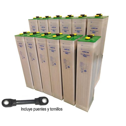 12 TAB 5 TOPzS 625-812Ah 2v batteries