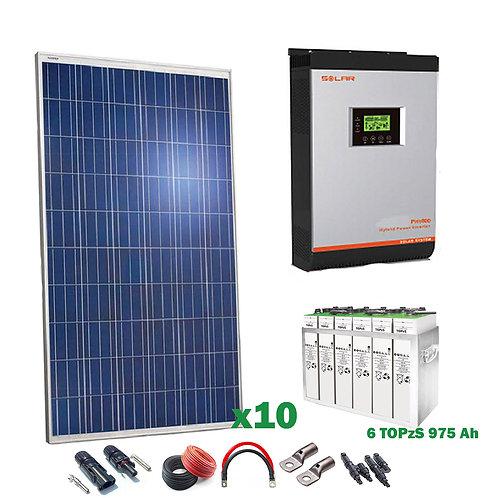 Kit Solar 24v 2500w Inversor Híbrido