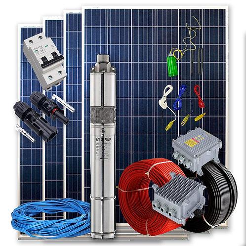 Kit solar Bombeamento 550w - 3 / 4cv Max. 3200 litros / hora altura 54 metros