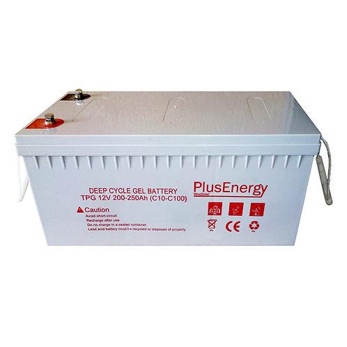 GEL 250Ah / 12v PlusEnergy TPG250 Solarbatterie