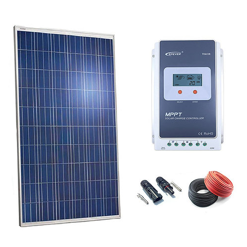 Kit Solar 12v 250w Regulador MPPT 20a con LCD
