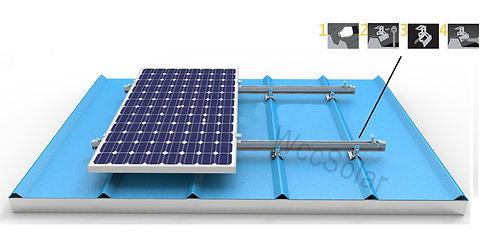 Estructura para paneles solares modelo Tejado Sandwich chapa