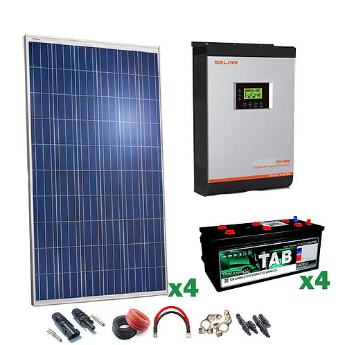 Kit Solar 24v 1000w Inversor Híbrido