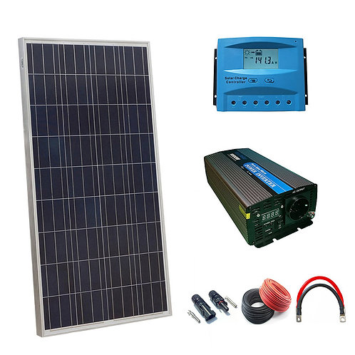 Solar Kit 12v 150w Inverter Hour 1000w