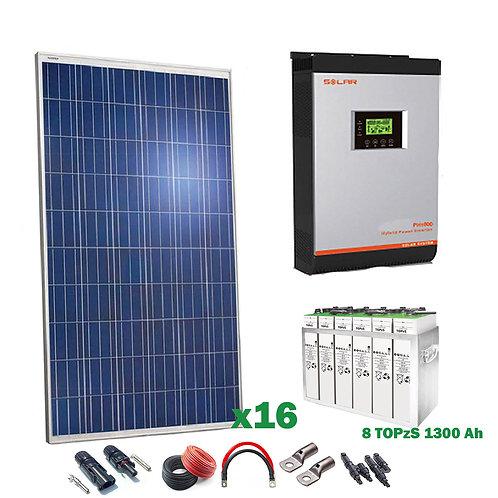 Kit Solar 48v 4000w Inversor Híbrido