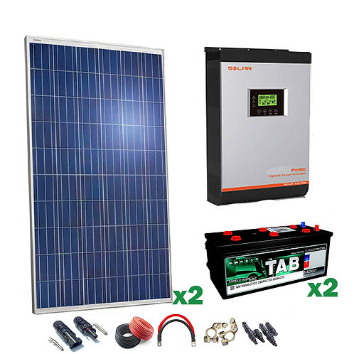 Kit Solar 24v 500w Inversor Híbrido