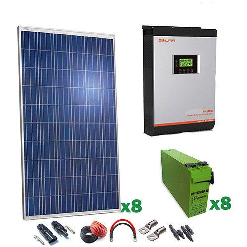 Kit Solar 24v 2000w Inversor Híbrido