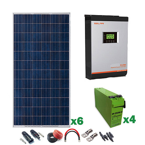 Kit Solar 24v 1800w Inversor Híbrido