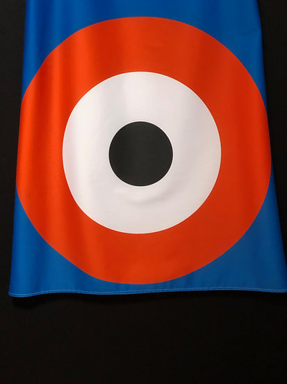 robe mod cible bleu/orange/noir - mod dress orange/blue target