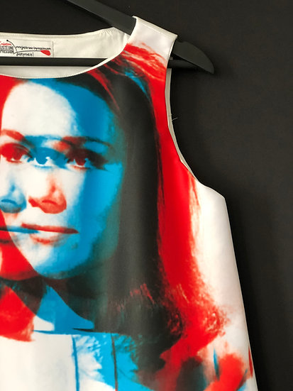 "robe ""Emma Peel"" 3D / Emman Peel the Avengers dress 3D effect"