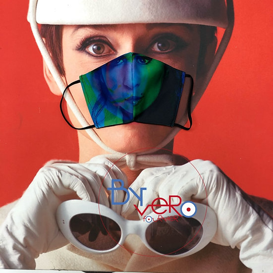 Masque unique iconique Amy Winhouse in colors 3D effect